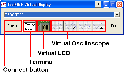 2.1. System Requirements Figure 2. ToolStick Virtual Tools ToolStick Virtual Tools requirements consist of the following: Pentium class host PC running Windows 2000 or newer. One available USB port.