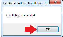 2. Click OK after installation succeeded in the Esri ArcGIS Add-In Installation Utility C. Set-Up Reports Add-In for ArcGIS Desktop i. Turn on Community Analyst Online Reports Extension 1.
