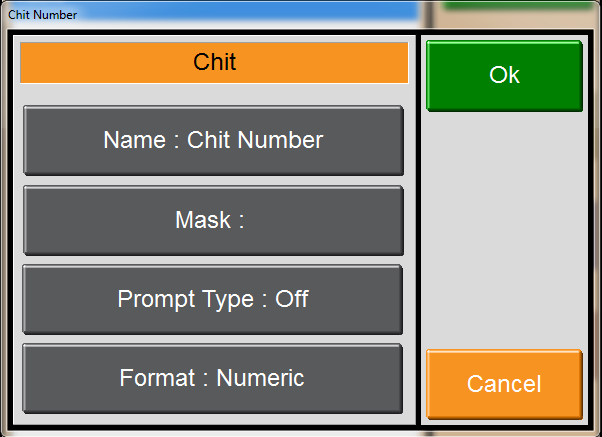 Chit Numbers Cafe Style Ordering To Set up Chit numbers go to the main start screen of menumate. 1) Press Maintenance. 2) Click on Chit Numbers.