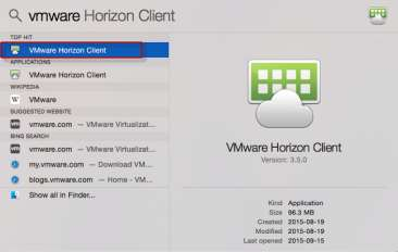 IH Anywhere for Apple OSX (MAC) Installation Internal Access Internal Access Instructions Please make sure the VMware Horizon View client has been installed.