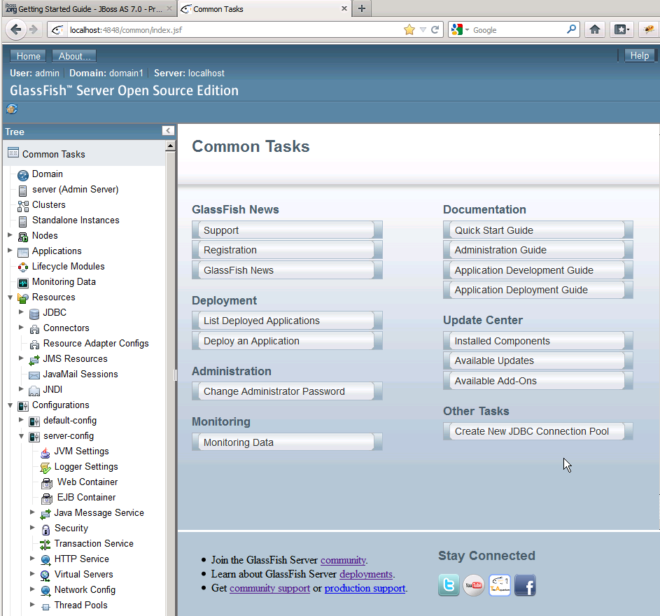 Administration and Management GlassFish