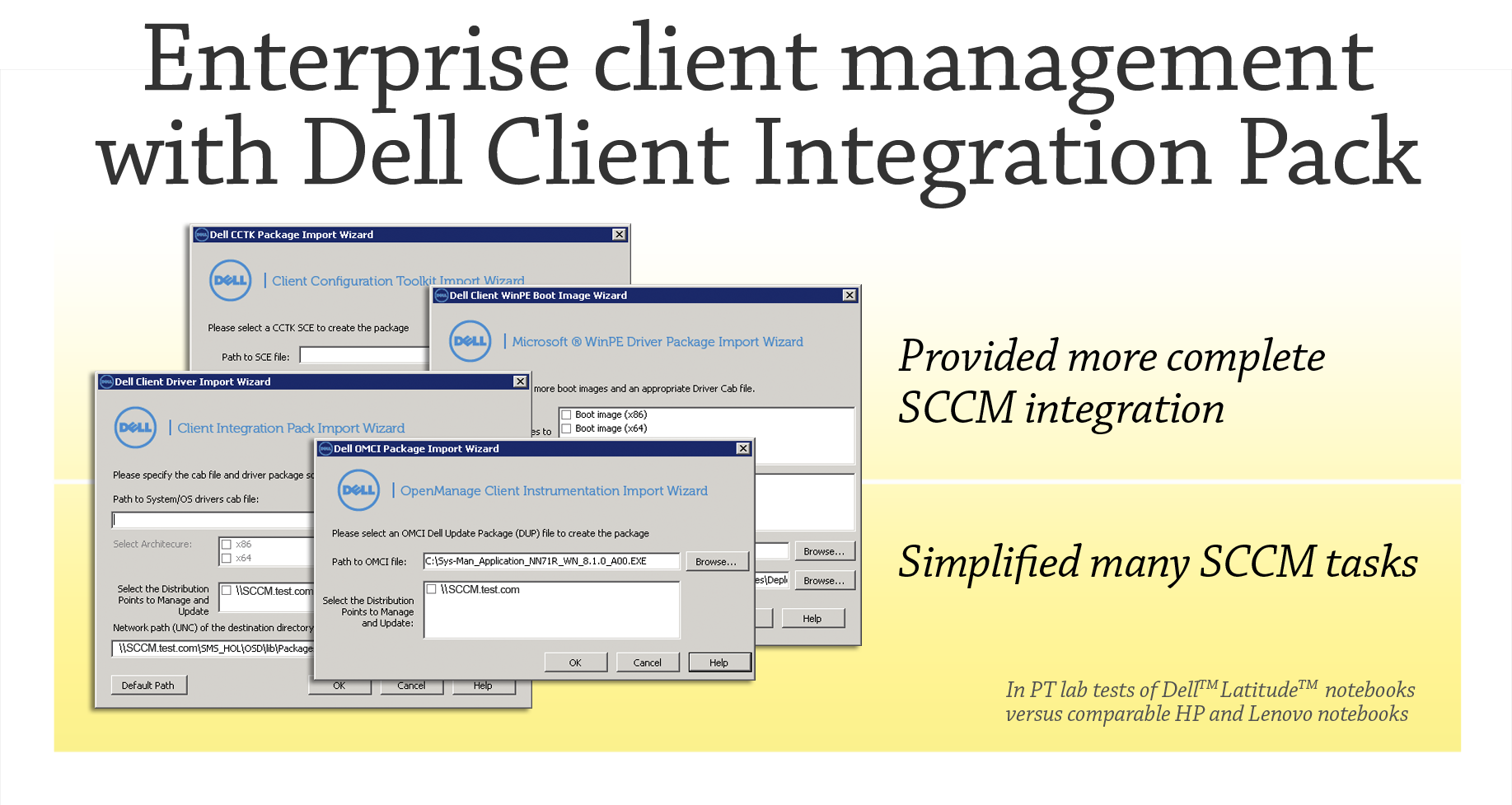 MANAGING CLIENTS WITH DELL CLIENT INTEGRATION PACK 3 0 AND MICROSOFT