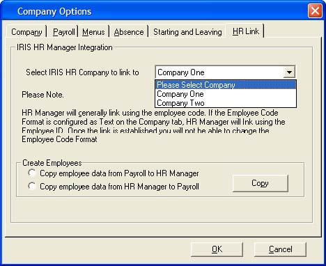 How the link works The dynamic link between Earnie and IRIS HR Manager enables you to make changes to employees within a company on one of the systems, and have those changes automatically made to