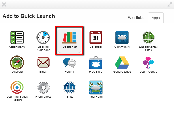 9 How to Add an App to your Quick Launch Menu Click on the Plus Sign icon to launch