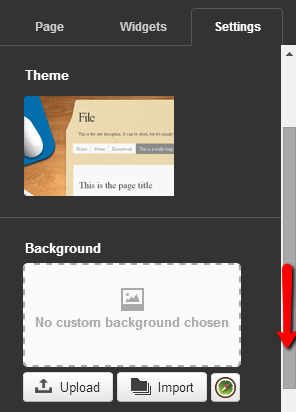 4 Note : If no custom background is chosen here, then the image selected in the My Background section in My Preferences will be displayed