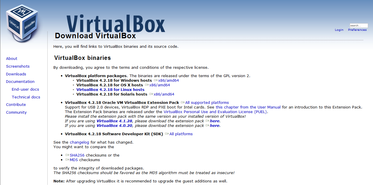 Technical Deployment The ODI virtual machine is delivered as an Oracle VirtualBox appliance and requires both the ODI 12c Getting Started archive and an installation of the Oracle VirtualBox product.