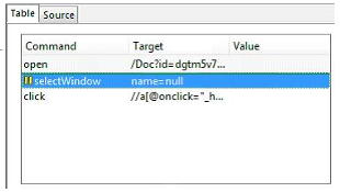 The Source tab displays the test case in the native format in which the file will be stored.