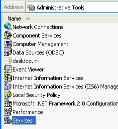 1. Go to the Control Panel and open Administrative Tools. 2.