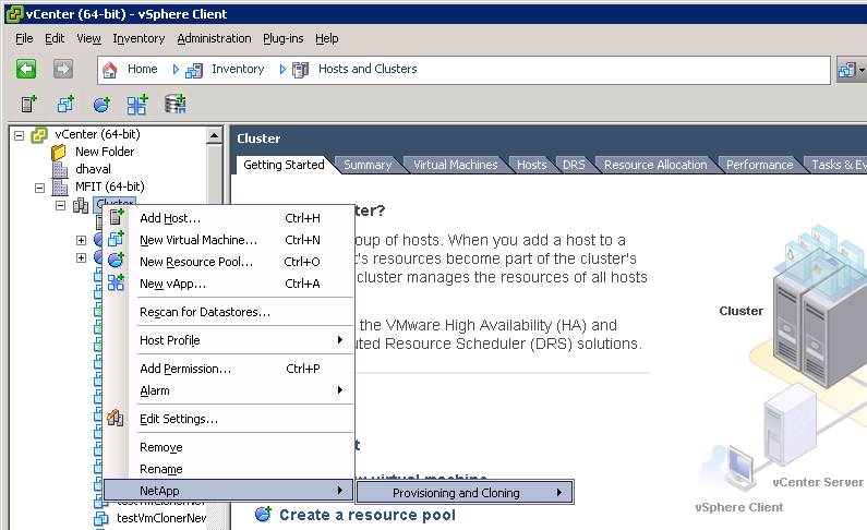 Overview of the OnCommand Plug-in for VMware 7 Replicate NFS datastores across sites Import virtual machines into virtual desktop infrastructure connection brokers and management tools You can access