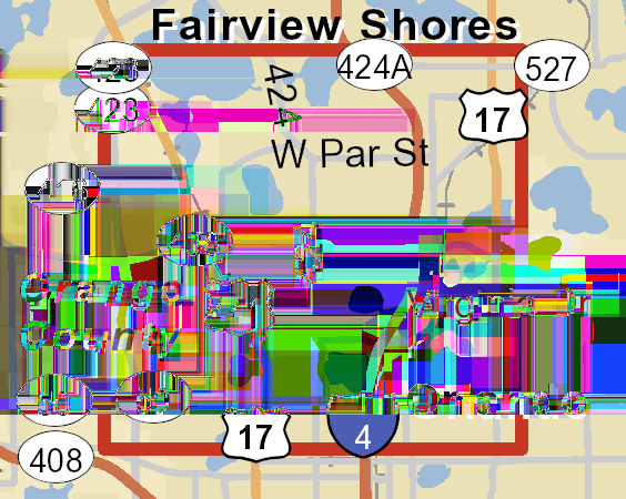 Traffic Count Map College Park Edgewater Dr & W
