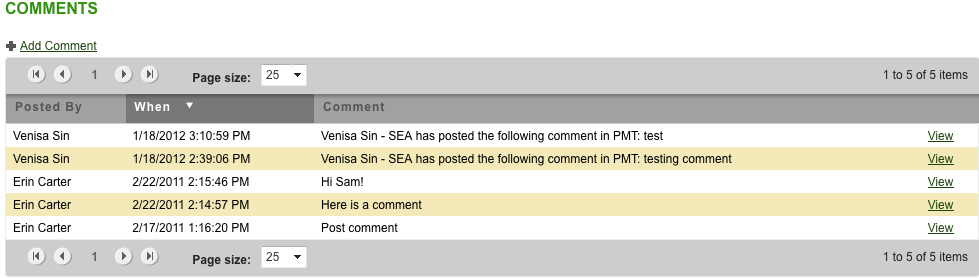Commenting Comments facilitate communication among Tracker users. Regardless of e-mail notification, any user with access to the associated element may view comments.
