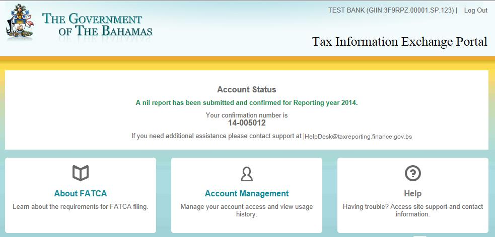30 Email confirmation sample: Account Status after submitting Nil Account Report The Account Status