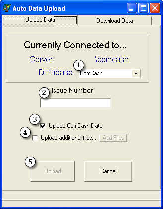 26 ComCash Utilities 1. In the Select a Server Name edit box, either type in the name of the server in the format computername\servername, or select the server from the drop-down list. 2.