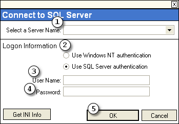 Logging on 3 1 Logging on You will need to log on to a SQL server before using Utilities.