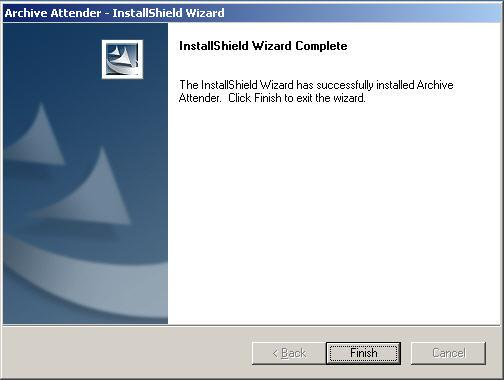 Confirm the components to be installed in the Start Copying Files window and click the Next button. 9) The InstallShield Wizard Complete screen should appear after all the files have been copied.