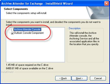 Setting up Archive Attender for Outlook Web Access Users In a default installation of Archive Attender, the Archive Attender console, the service and the web application used to provide users access