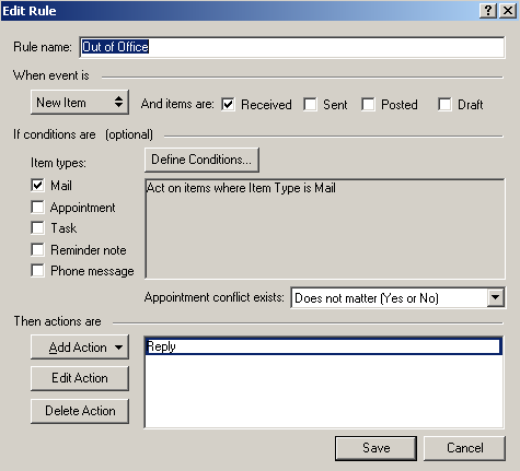 Out of Office Assistant Outlook 2010 Click File Tab, Info, Automatic Replies button.