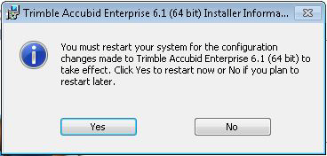 Install Software 2 11. When the installation is complete, click Finish. 12. You will be prompted to restart your computer, click Yes.