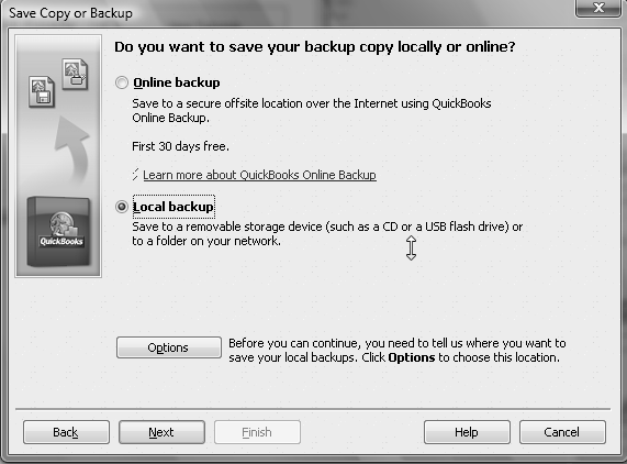 22 Chapter 1 saves or backups that you will make in this text as you operate your business Click 3 Save