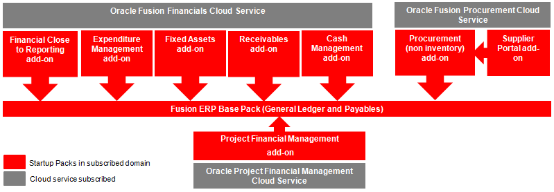 ORACLE FUSION ERP CLOUD SERVICES START-UP PACKS - PDF