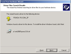 Insert the device driver diskette into your floppy drive, and click Next.
