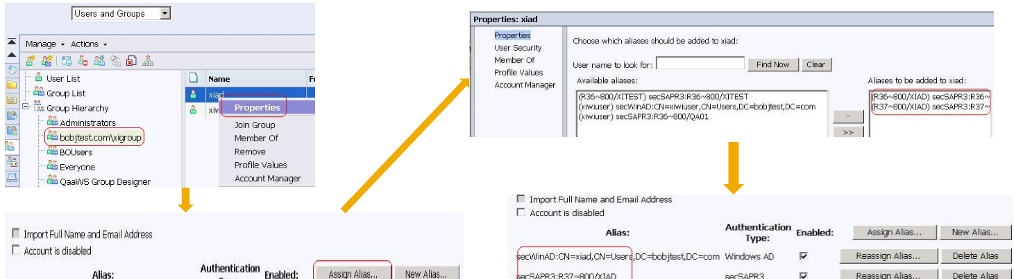 More on user Aliasing But there is an easier way to match SAP & AD, LDAP accounts Registry key will allow you to strip out the SAP system name, and automatically match user based on user ID alone: