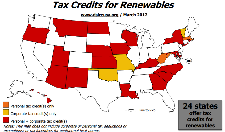 State Policy: Tax Incentives A variety of tax credits