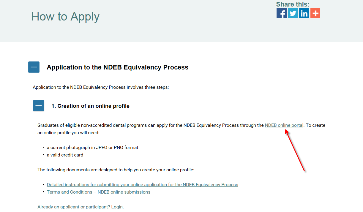 3. Select How to Apply. 4. Click on NDEB online portal to begin an application.