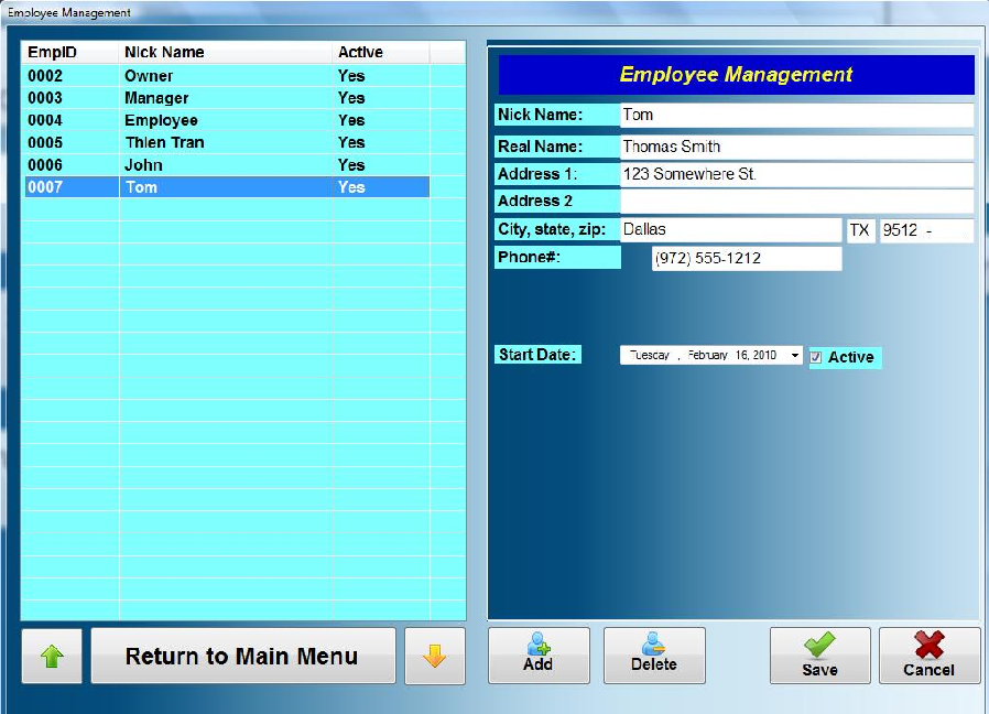 Employee Profiles Use this option to manage employees profiles. You can add, delete, or modify employee s profile.