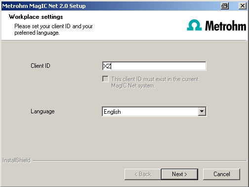 Under [Advanced...] it is possible to change the ports MagIC Net uses to communicate with the database and administration server.