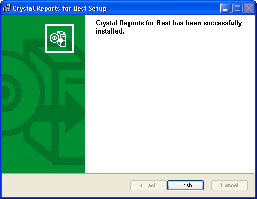 ...... Chapter 6 Installing Crystal Reports 7 A progress meter appears while the installation is in progress.