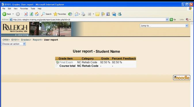 6.2 Submitting the Exam When you have completed the Exam, the Exam will need to be submitted for grading. To submit the Exam, select the Submit and finish button as shown in Figure 19 Exam Submittal.