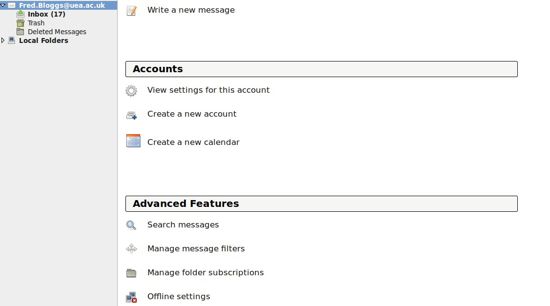 Subscribe to Your Folders To view your mailbox folders you have to