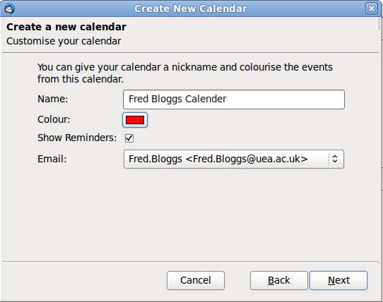 Step 3: Select Microsoft Exchange 2007/2010, click Next: Step 4: Give your calender a
