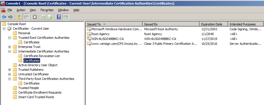 CHAPTER 4 Configuration for MobilePASS Enrollment 5. Right click the certificate request and select All Tasks > Issue. The certificate is displayed in the Issued Certificates folder in the CA console.