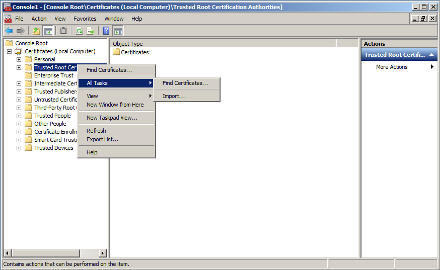 CHAPTER 4 Configuration for MobilePASS Enrollment 5. Select Local computer (the computer this console is running on), click Finish, and then click OK. 6.