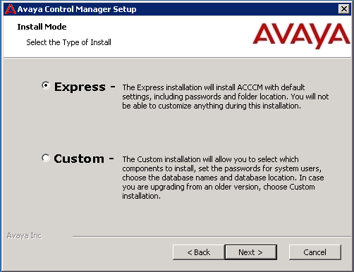 2. On the Welcome to the Avaya Control Manager 7.1 Setup Wizard screen, click Next.