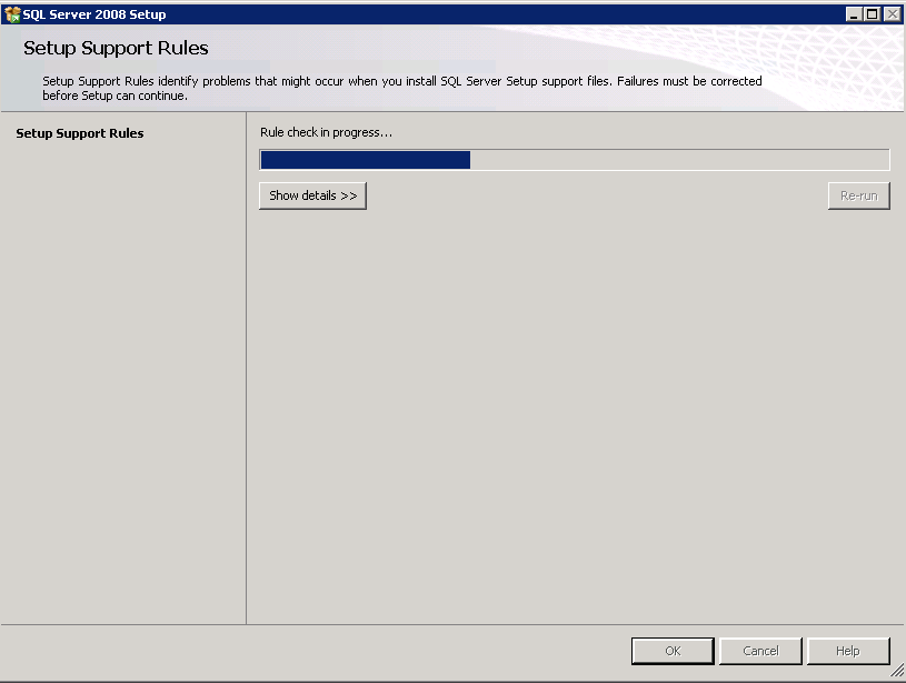 Note: If select the Custom option during the installation process, the system begins the installation package automatically and displays the SQL Server Installation wizard. 4.