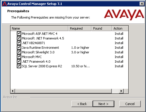 The installation wizard rolls back automatically. 2. Install the prerequisite by running the software separately.