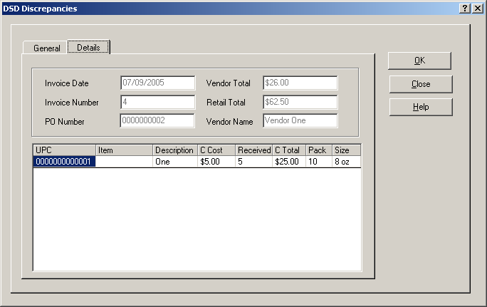 DSD Discrepancies DSD Discrepancies Access the DSD Discrepancies function under the Inventory menu.