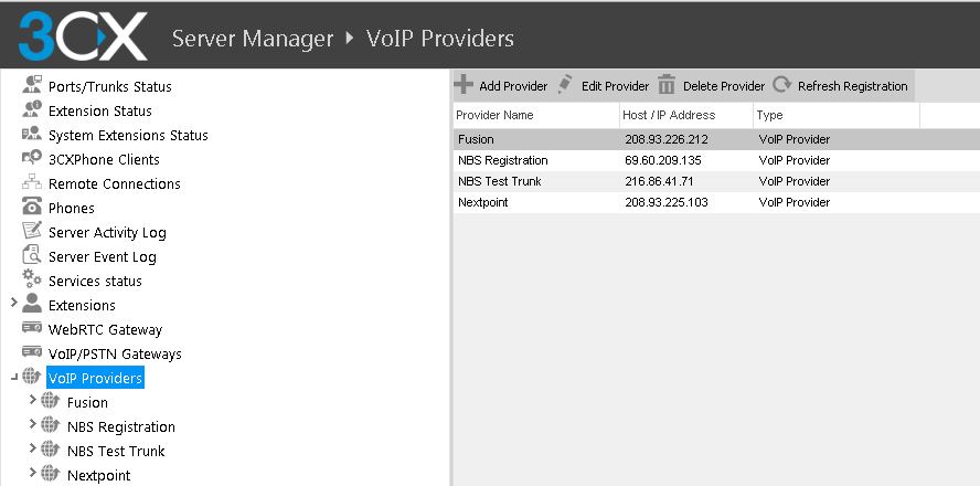 Figure 11: Edit VoIP Providers 3. The following are changes that need to be made under the Advanced tab seen in Figure 16 (below). a. Registration Settings: i.
