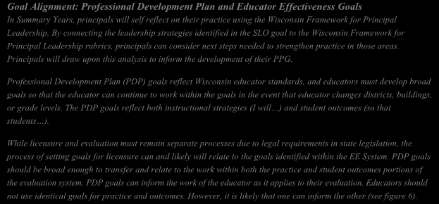 Developing a PPG will help principals focus their professional growth and help evaluators focus activities for the year.