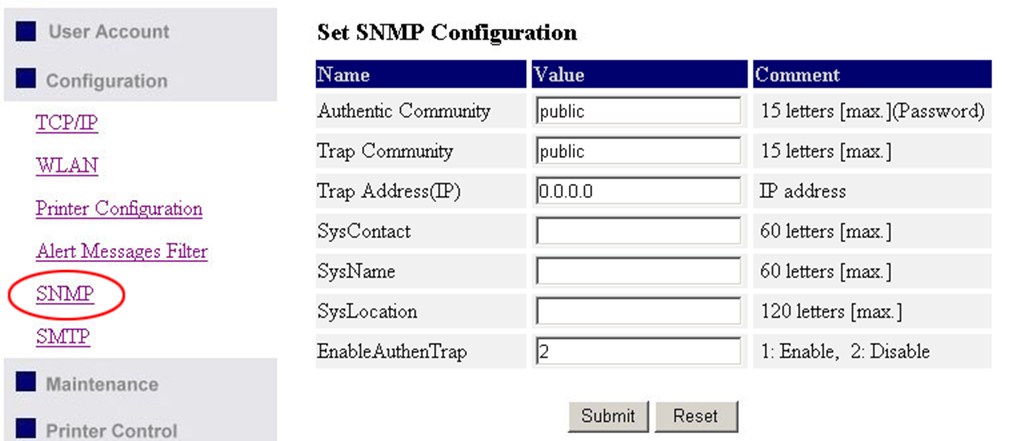 SNMP: This Server runs an SNMP daemon supporting SNMP v1 and v2c protocols (Simple Network Management Protocol). Users can use SNMP client software such as HP OpenView to manage the Server.
