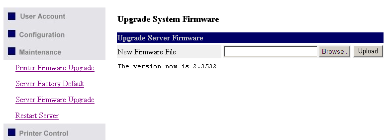9. Click Browse button to choose the file of new firmware. 10.