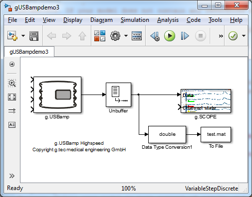 Building a Simulink model for real-time analysis V Copyright