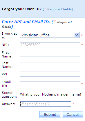 Forgot Your User ID or Forgot Your Password 3. In the Email ID field, type your email address. 4.
