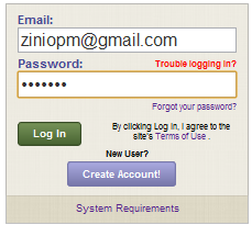 Your login screen status confirms You are already Subscribed to Zinio and will automatically launch