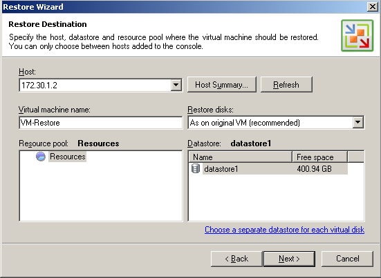 Step 4. Select a Restore Point Select a necessary restore point for the virtual machine.