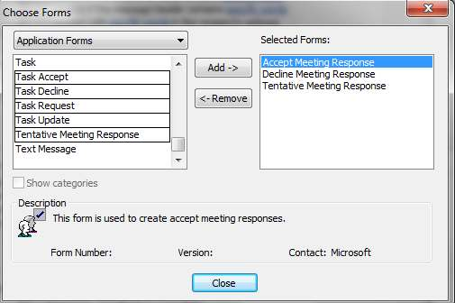 8. In the drop down menu, select Application Forms. Select each item below, then click Add for each item.