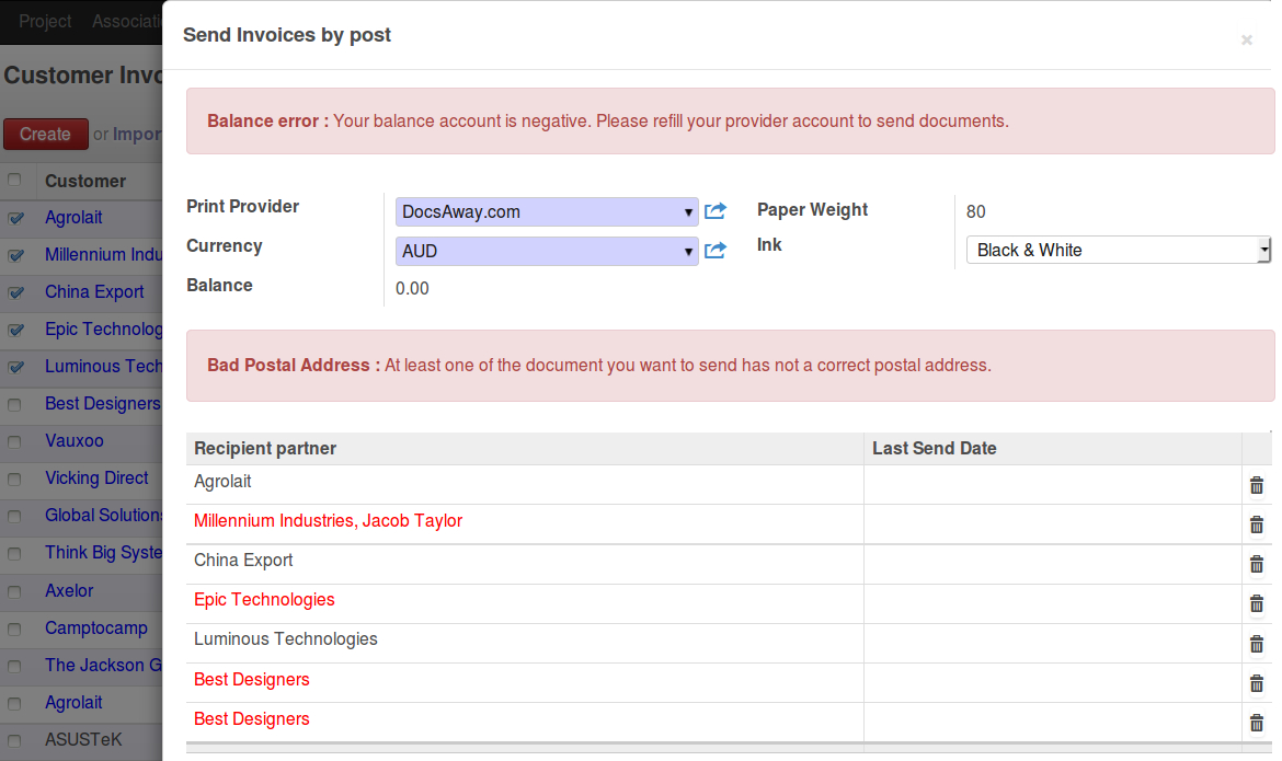 Odoo Accounting V Draft PDF - Send invoice to customer journal entry